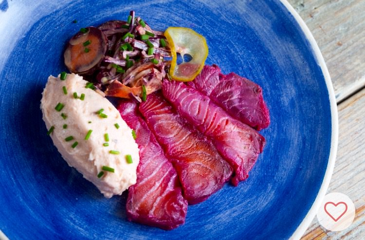 Receta de salmón con Brockmans