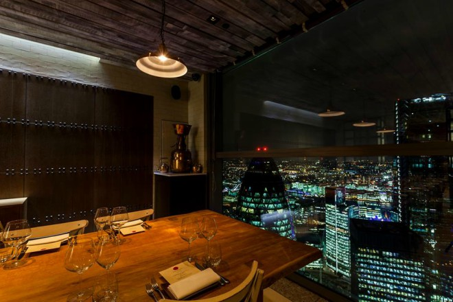 Duck and Waffle bares Londres