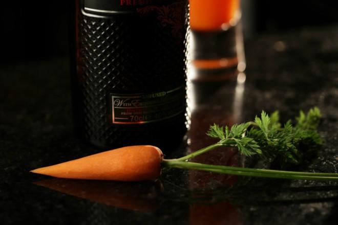 Cóctel de primavera con zanahoria