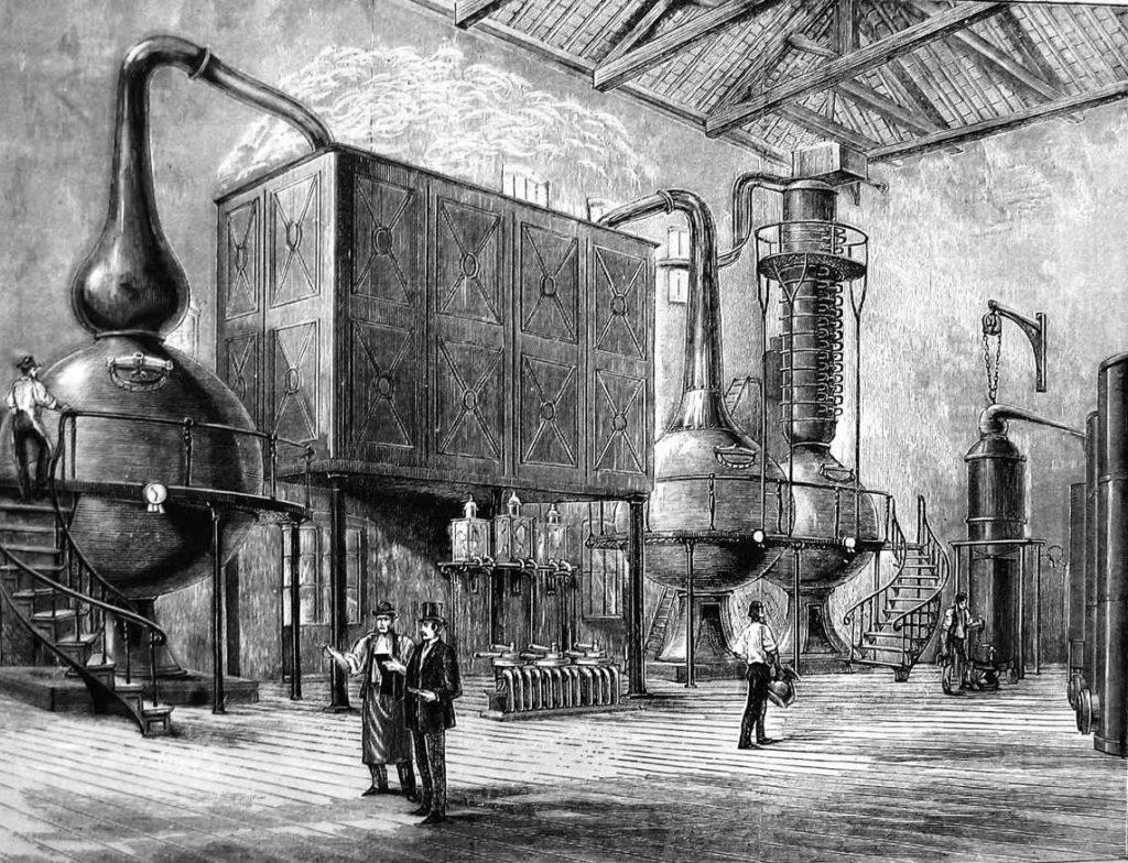 Historia de la coctelera en la Revolución Industrial